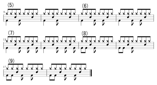8ビート バリエーションパターン